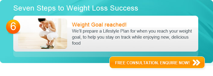 Weight Goal reached - We'll prepare a Lifestyle Plan for when you reach your weight goal, to help you stay on track while enjoying new, delicious food